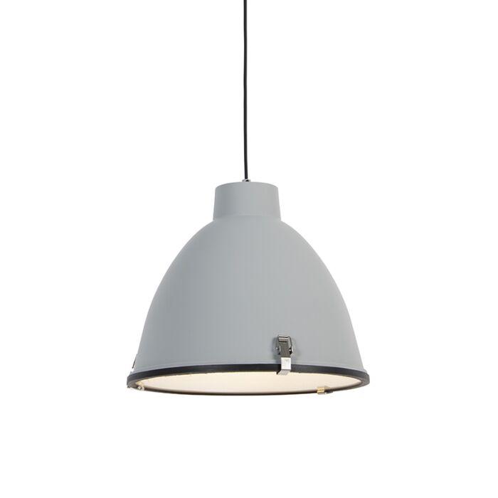 Industriële-hanglamp-grijs-38-cm-dimbaar---Anteros
