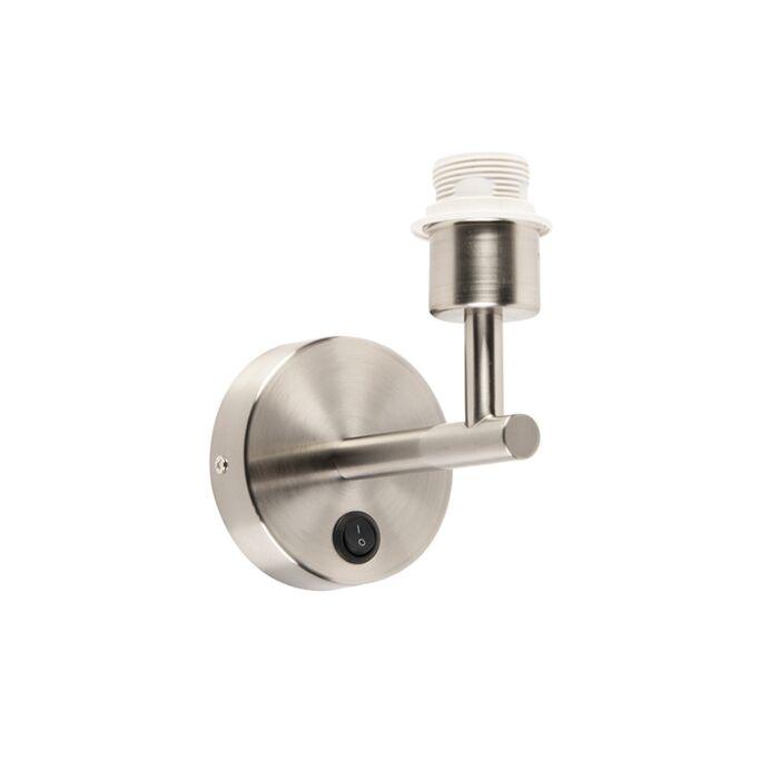 Wandlamp-Combi-1-staal-zonder-kap