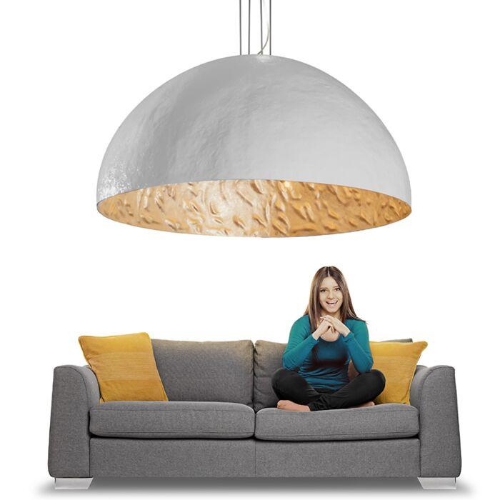Hanglamp-Magna-160-wit---zilver