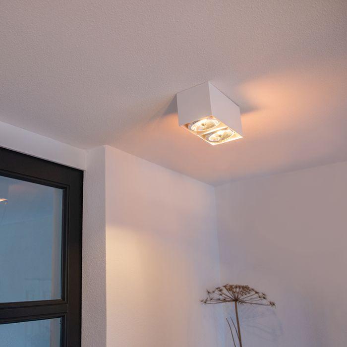 Design-spot-rechthoekig-2-lichts-wit-incl.-G9---Box