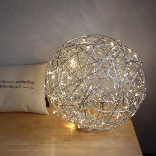 Vloerlamp-Draht-bol-40cm-LED-aluminium