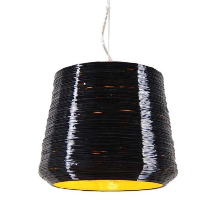 Hanglamp-Como-38-zwart-met-geel