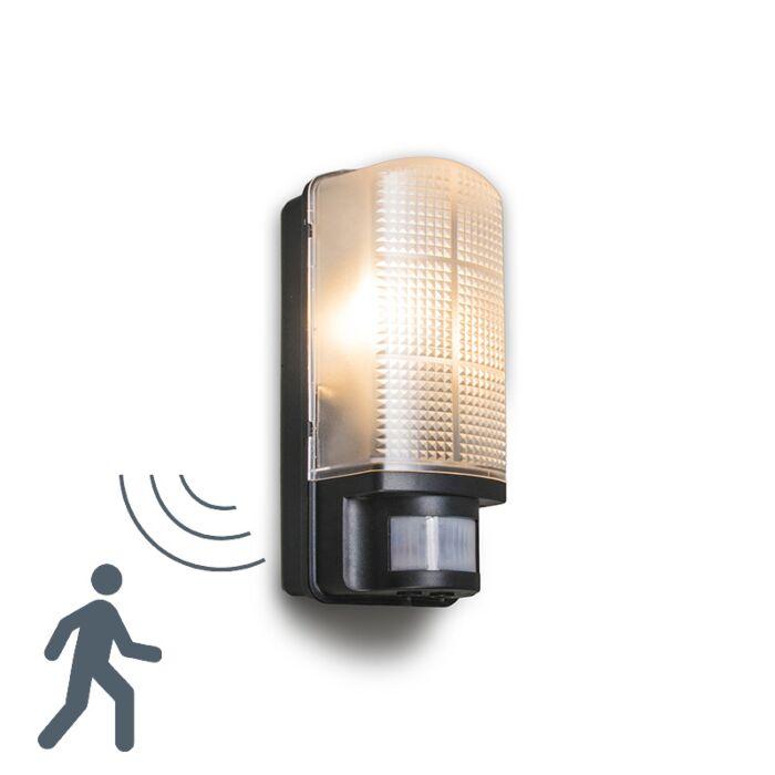 Buitenlamp-Mossa-met-bewegingsmelder-zwart