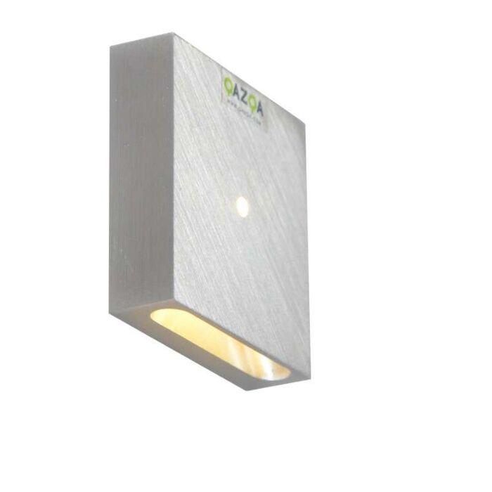 Wand-inbouwlamp-Quartz-vierkant-I-aluminium