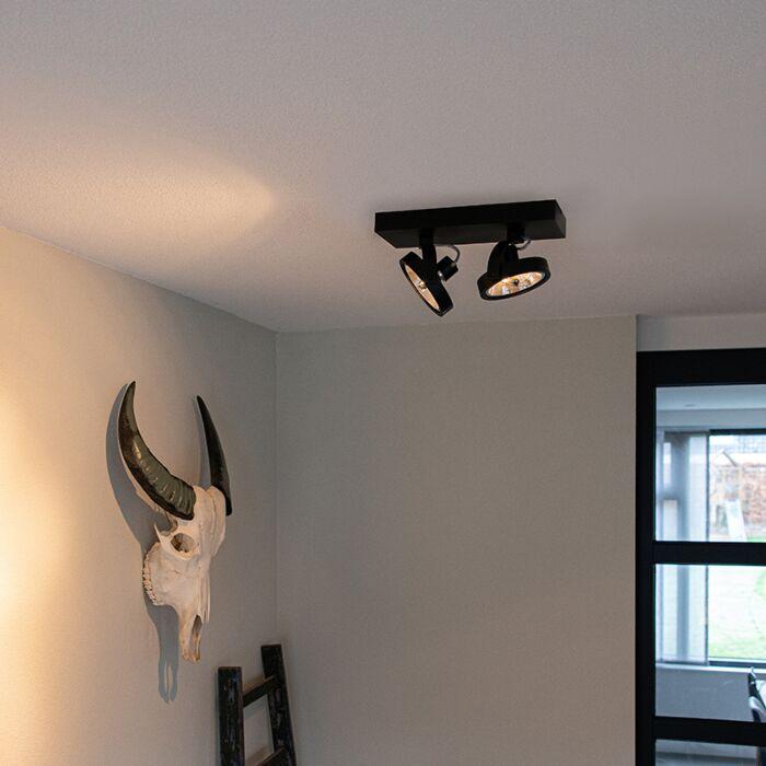 Design-spot-zwart-verstelbaar-2-lichts-incl.-LED---Go