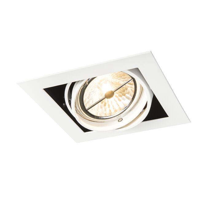 Inbouwspot-wit-vierkant-verstelbaar-1-lichts---Oneon-111-1