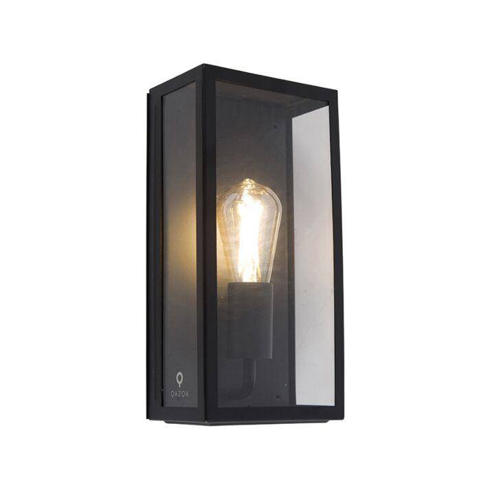 Industriële-buiten-wandlamp-zwart-IP44-met-glas---Rotterdam