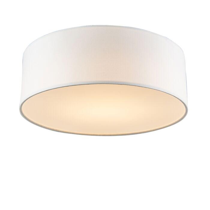 Plafondlamp-wit-30-cm-incl.-LED---Drum-LED