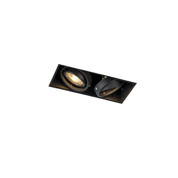 Inbouwspot-zwart-GU10-draai--en-kantelbaar-trimless-2-lichts---Oneon