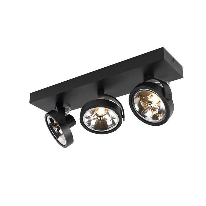 Design-spot-zwart-verstelbaar-3-lichts-incl.-3-x-G9---Go