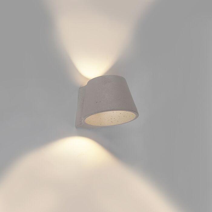 Industriële-wandlamp-beton---Cup