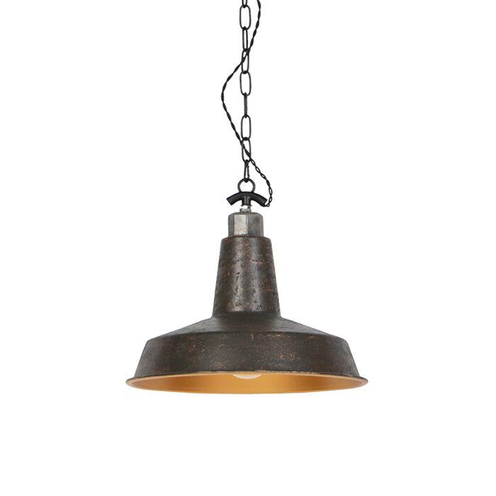 Industriele-ronde-hanglamp-roestkleur---Manhattan