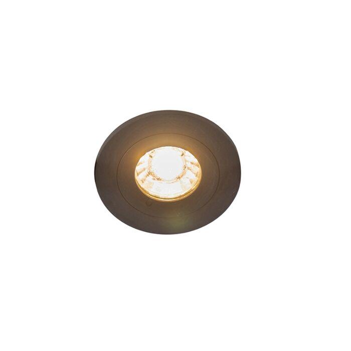 Moderne-inbouwspot-zwart-IP44---Xena-Round