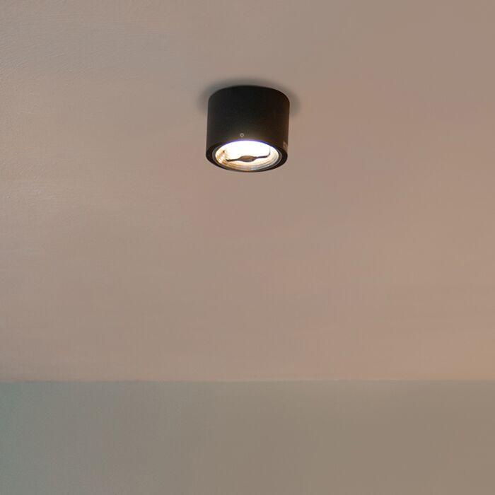 Moderne-plafondspot-zwart-AR111-incl.-LED---Expert