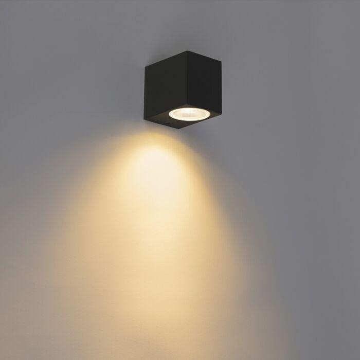 Moderne-wandlamp-zwart-IP44---Baleno-I