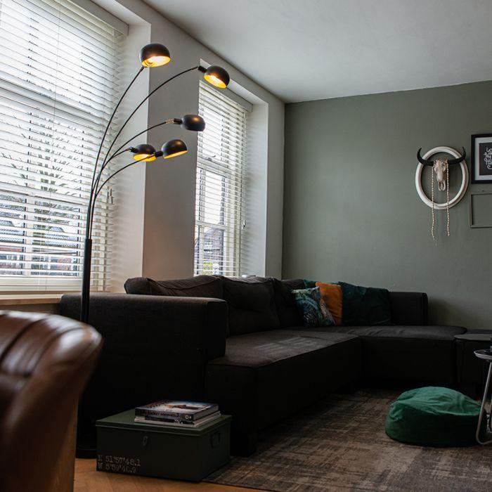 Design-vloerlamp-zwart-5-lichts---Sixties-Marmo