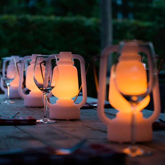 Tafellamp-wit-flame-effect-22-cm---Storm-Mini