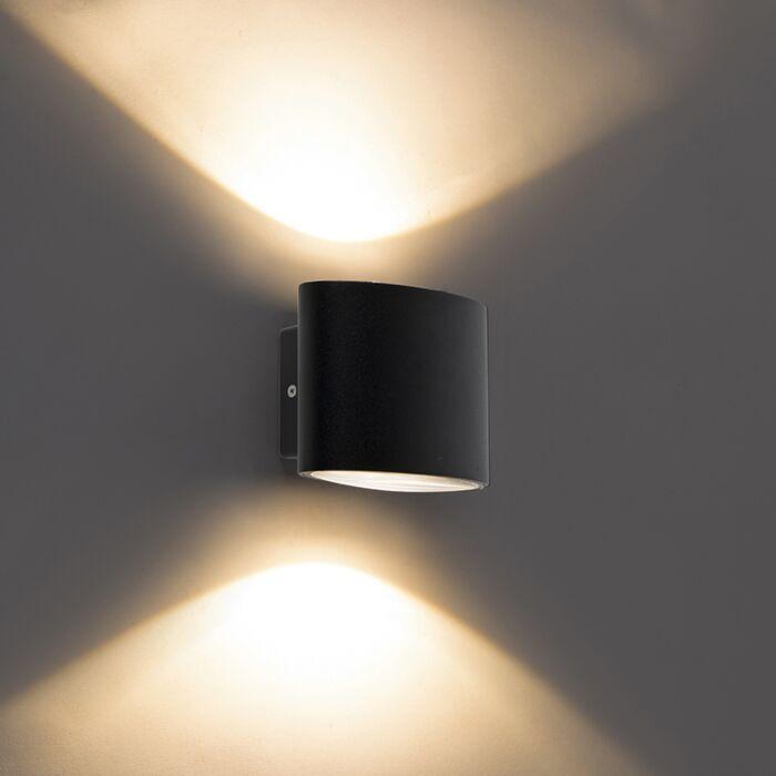 Moderne-buitenwandlamp-zwart-IP44-incl.-LED---Ovum