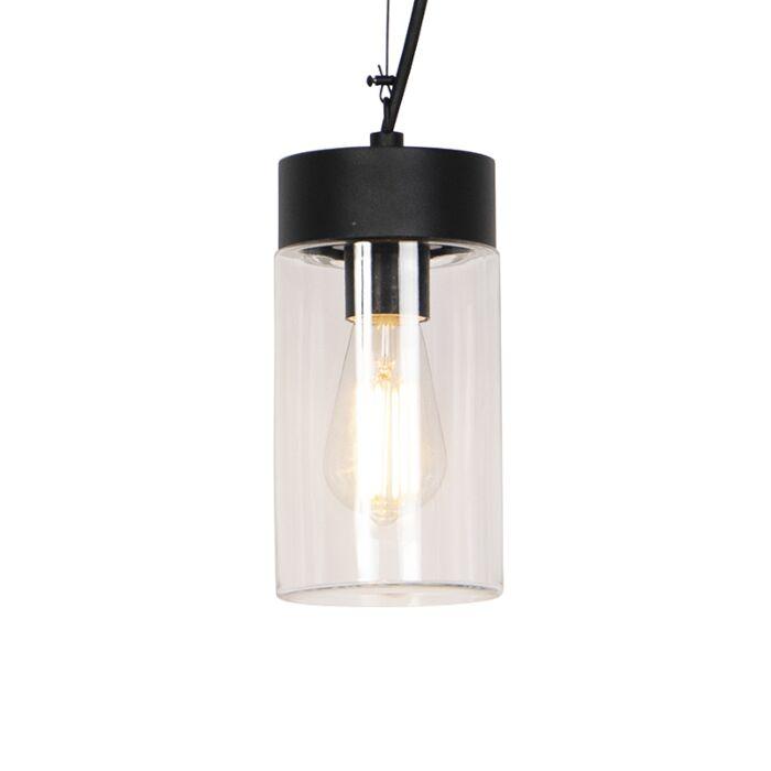 Moderne-hanglamp-zwart-IP44---Jarra