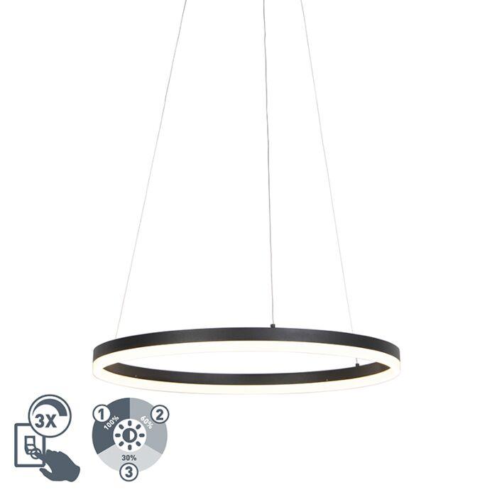 Design-ring-hanglamp-zwart-60cm-incl.-LED-en-dimmer---Anello