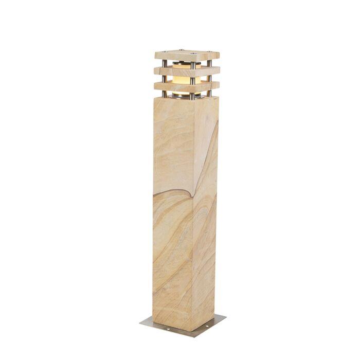 Moderne-staande-buitenlamp-zandsteen-70-cm---Grumpy
