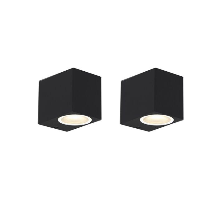 Set-van-2-moderne-wandlampen-zwart-IP44---Baleno-I