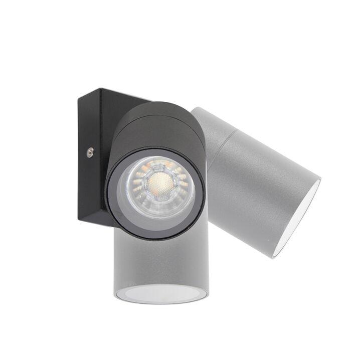 Buitenwandlamp-zwart-verstelbaar-IP44---Solo