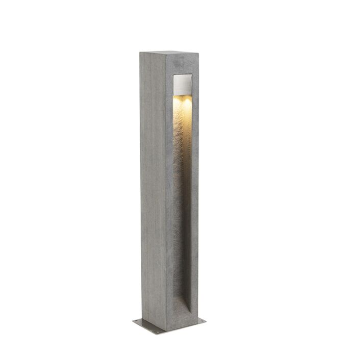 Moderne-staande-buitenlamp-bazalt-70-cm---Sneezy