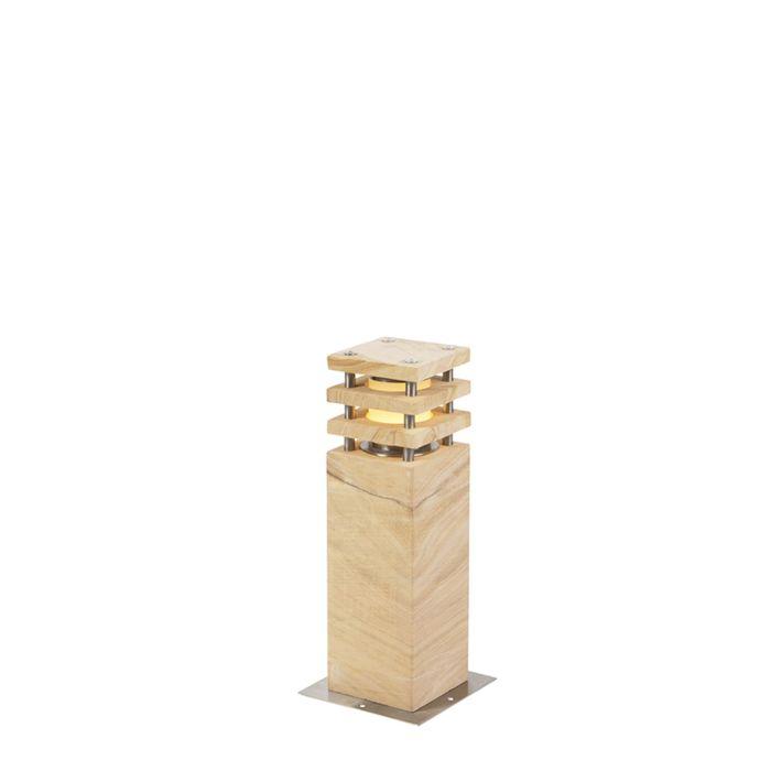 Moderne-staande-buitenlamp-zandsteen-40-cm---Grumpy