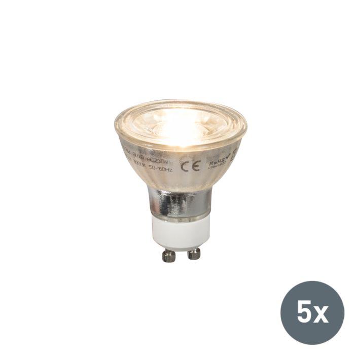 Set-van-5-GU10-LED-lampen-COB-5W-380lm-2700K