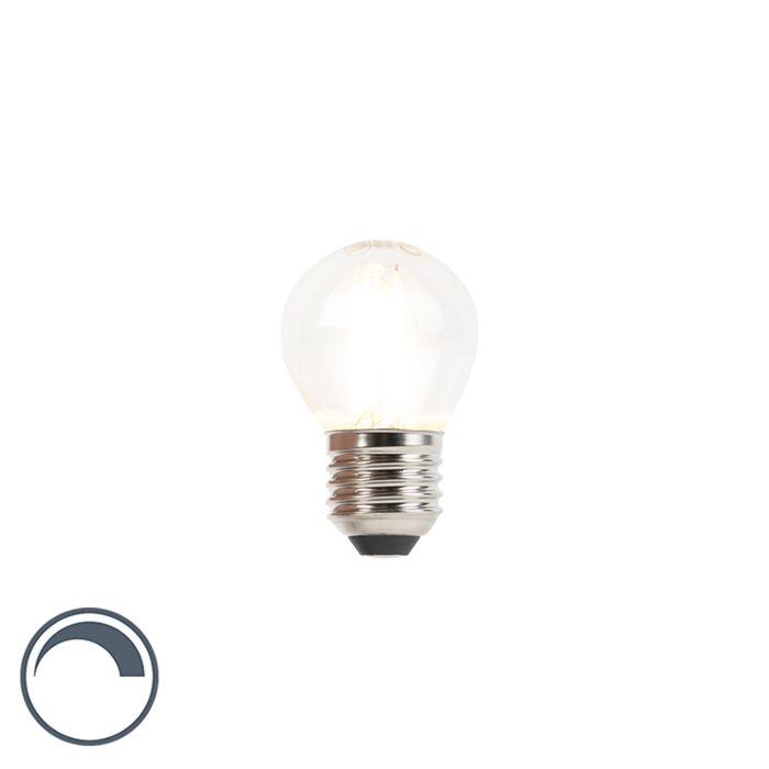 LED-filament-kogellamp-E27-240V-3W-350lm-P45-dimbaar