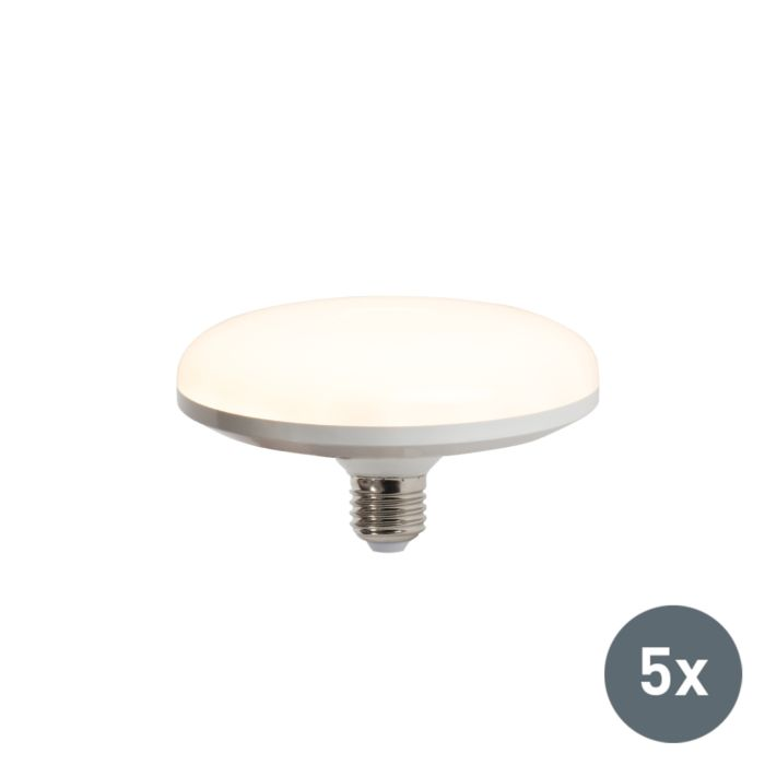 Set-van-5-LED-lamp-UFO-E27-18W-warmwit