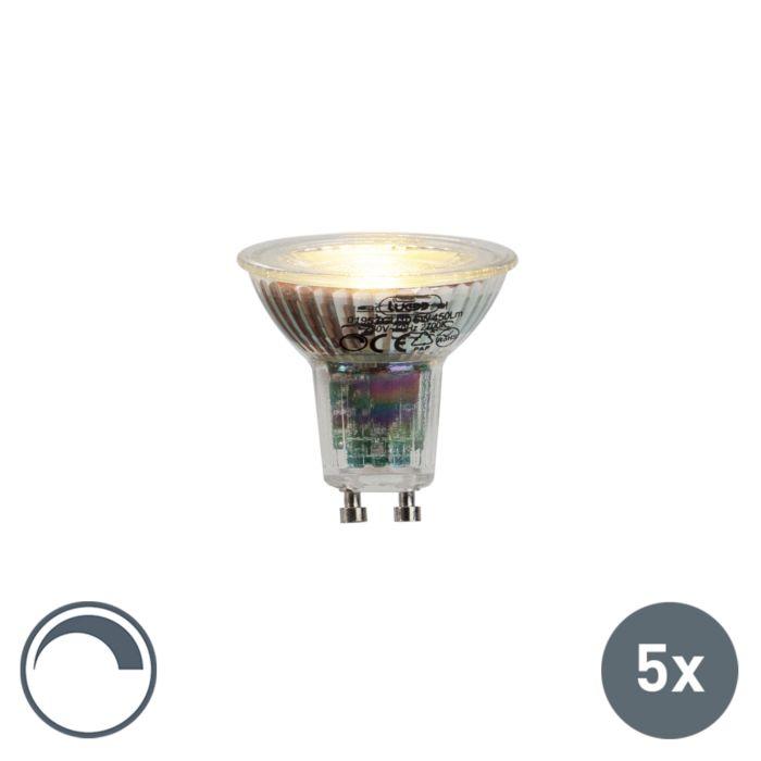 Set-van-5-GU10-dimbare-LED-lampen-6W-450-lm-2700K