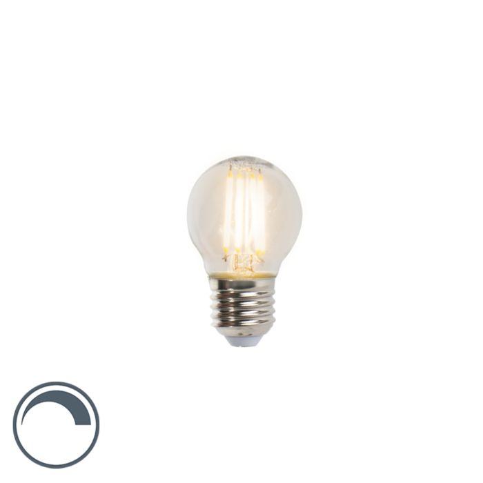 LED-filament-kogellamp-E27-5W-470lm-P45-dimbaar