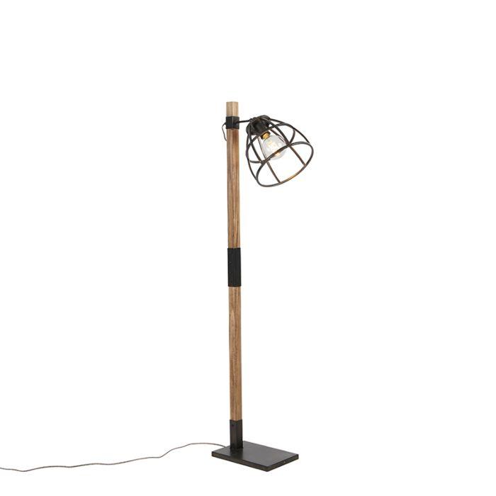 Industriële-vloerlamp-zwart---Arthur