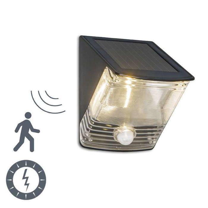 Buitenlamp-Dark-LED-met-bewegingsmelder-op-zonne-energie