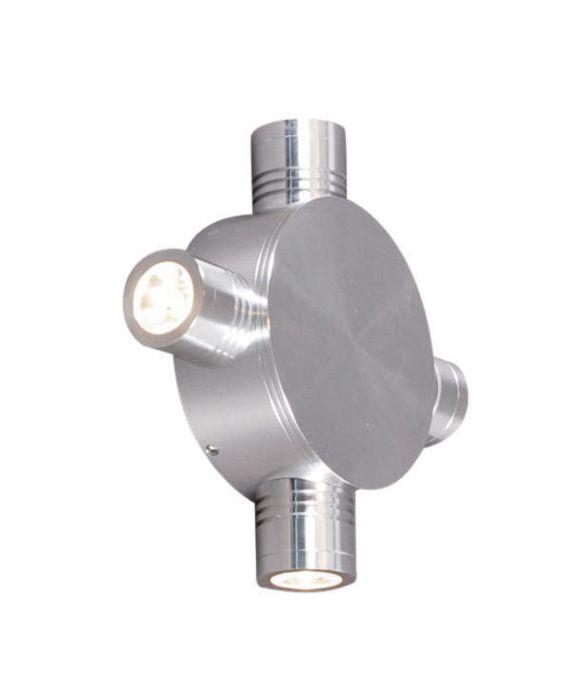 Wandlamp-Star-LED-4-aluminium