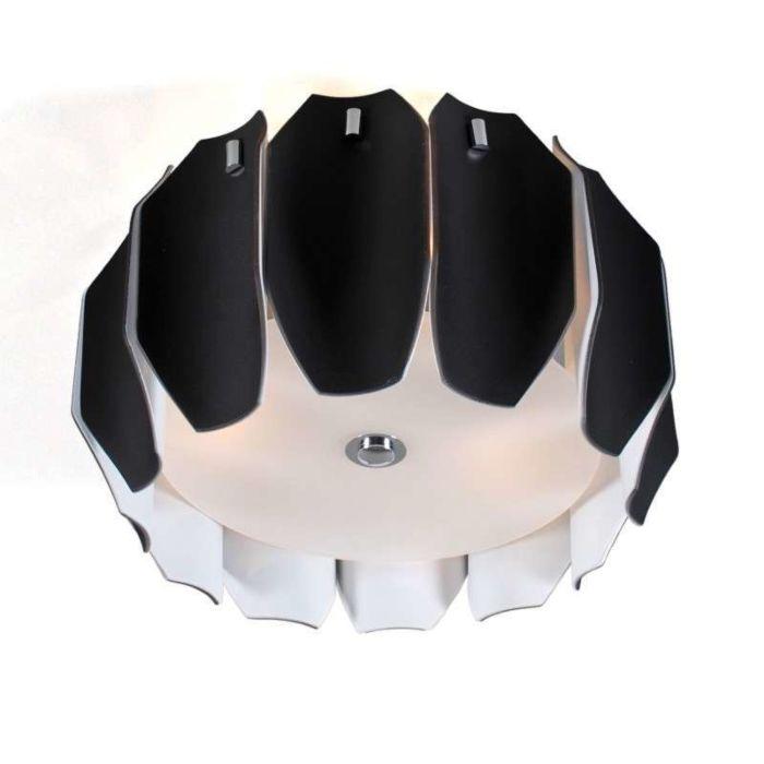 Plafonniere-Archo-40-chroom---zwart