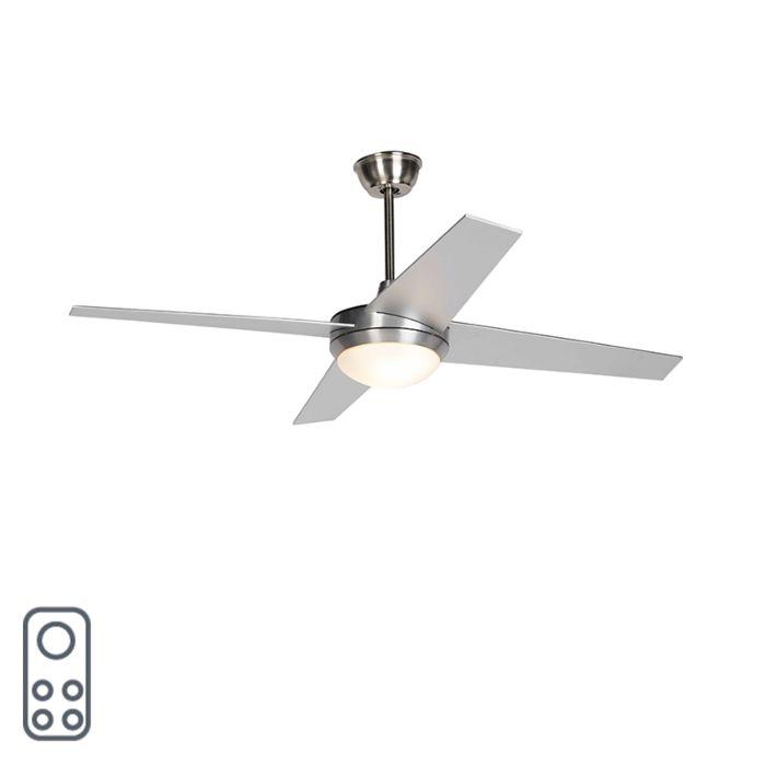 Plafondventilator-zilver-met-afstandsbediening---Roar-52