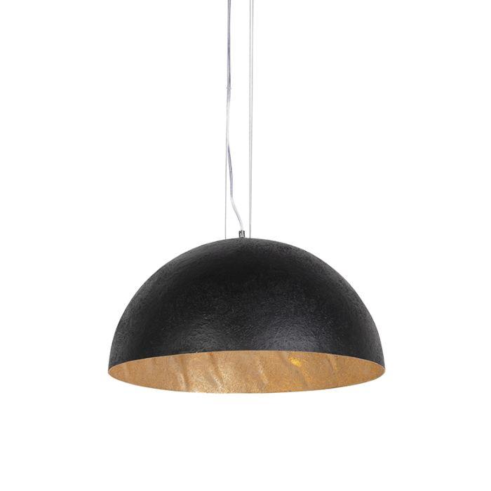 Industriële-hanglamp-zwart-met-goud-50-cm---Magna-