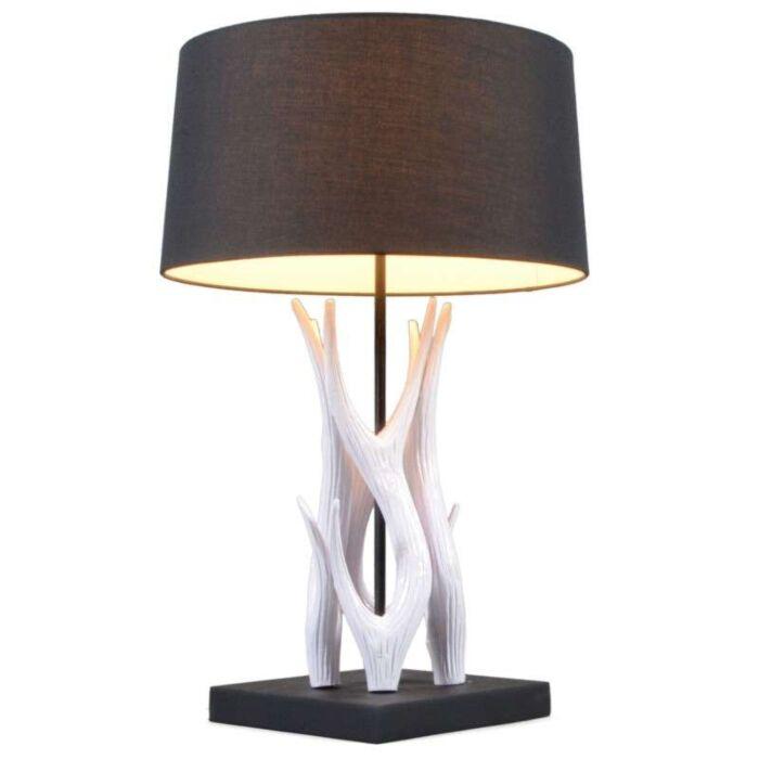 Tafellamp-Yindee-wit-met-kap-zwart