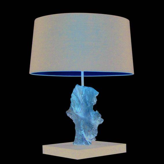 Tafellamp-Suchin-naturel-met-kap-zwart