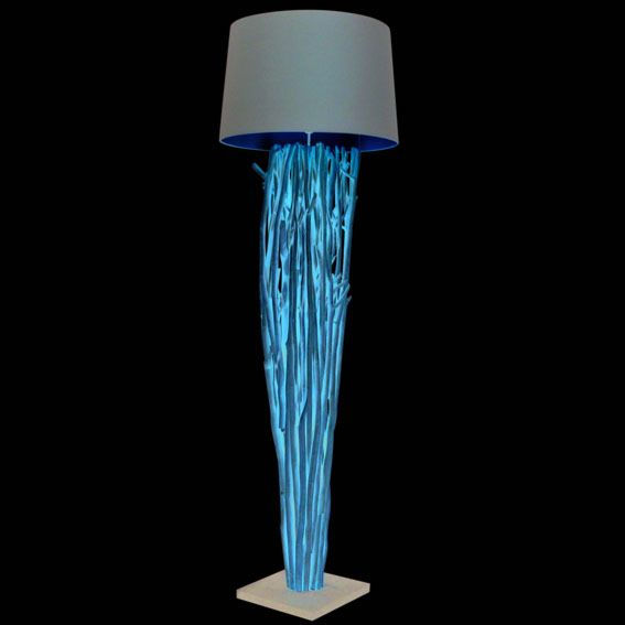 Vloerlamp-Phatom-naturel-met-bruine-kap
