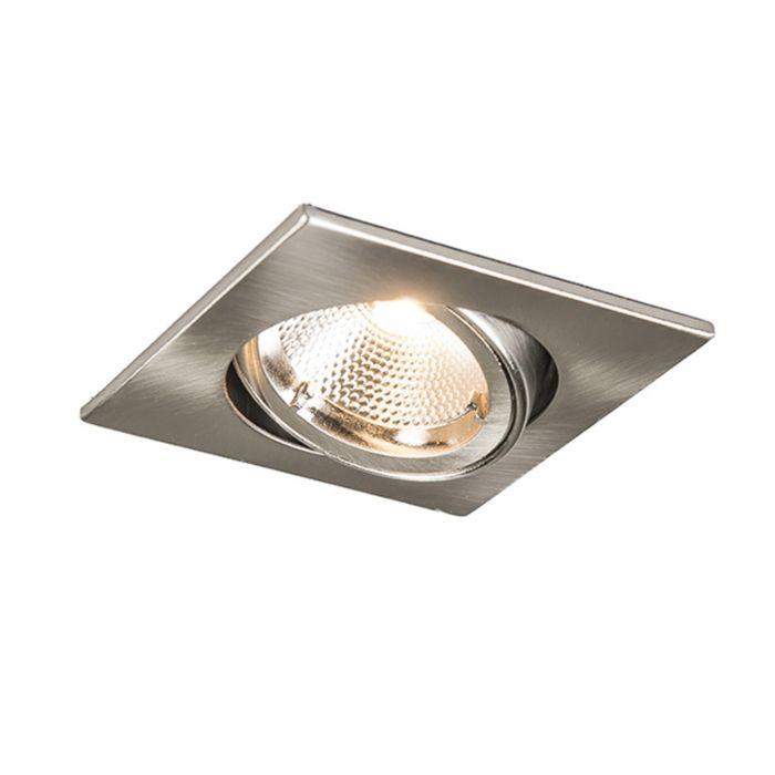 Inbouwspot-Safe-vierkant-staal-met-6W-LED