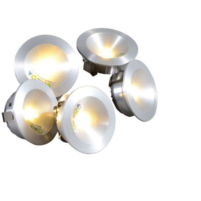 Inbouwset-Niek-5-x-1W-LED-aluminium