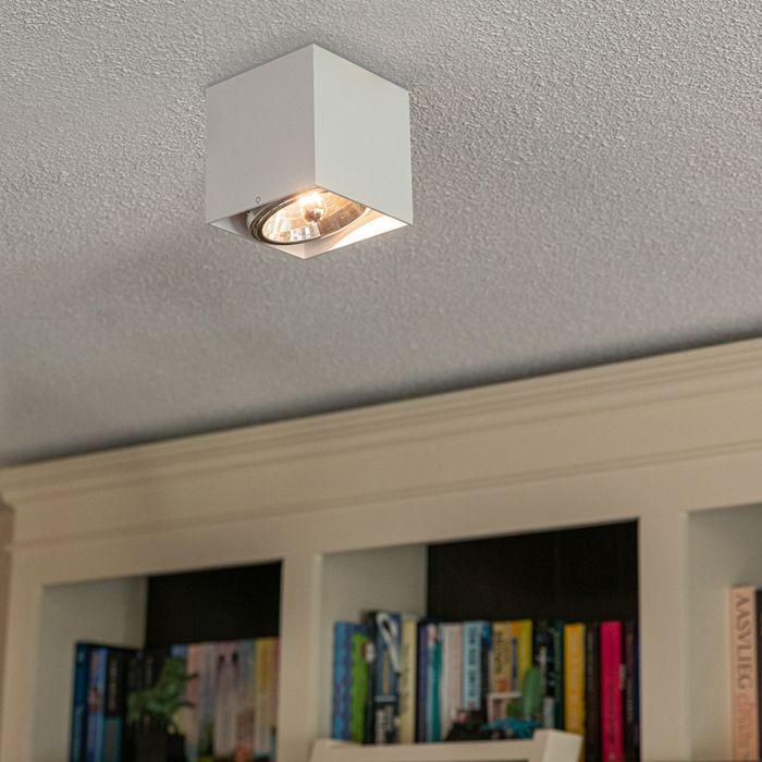 Design-spot-vierkant-1-lichts-wit---Box