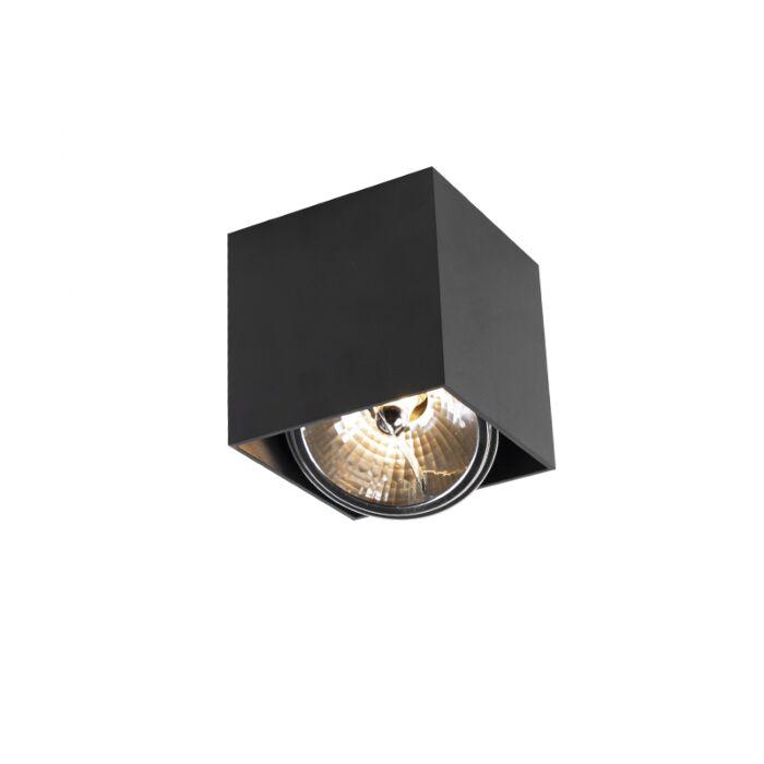 Design-spot-vierkant-1-lichts-zwart-incl.-1-x-G9---Box