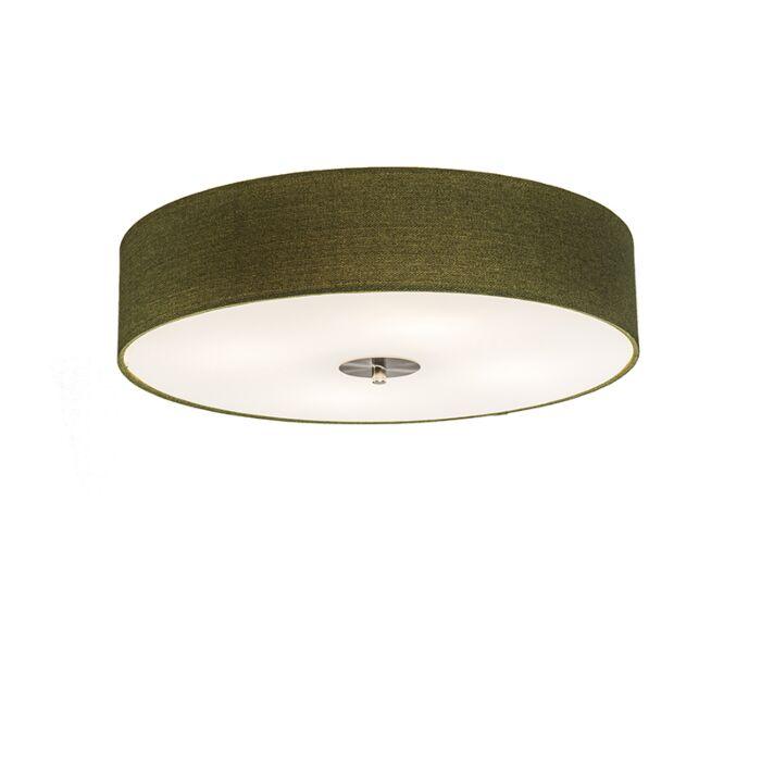Landelijke-plafondlamp-groen-50-cm---Drum-Jute