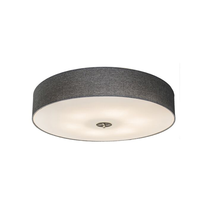 Landelijke-plafondlamp-grijs-70-cm---Drum-Jute