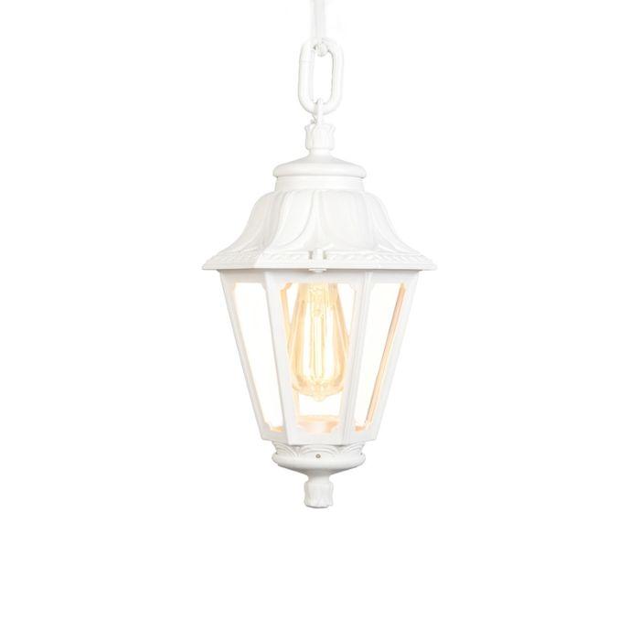 Landelijke-buitenhanglamp-wit-IP44---Anna